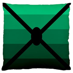 Fascigender Flags Line Green Black Hole Polka Large Cushion Case (one Side) by Mariart