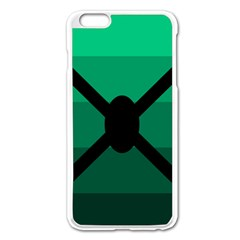 Fascigender Flags Line Green Black Hole Polka Apple Iphone 6 Plus/6s Plus Enamel White Case