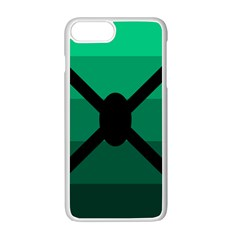 Fascigender Flags Line Green Black Hole Polka Apple Iphone 7 Plus White Seamless Case