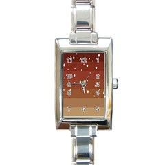 Fawn Gender Flags Polka Space Brown Rectangle Italian Charm Watch by Mariart