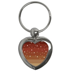 Fawn Gender Flags Polka Space Brown Key Chains (heart)