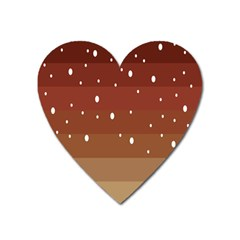 Fawn Gender Flags Polka Space Brown Heart Magnet by Mariart