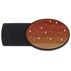 Fawn Gender Flags Polka Space Brown Usb Flash Drive Oval (2 Gb) by Mariart