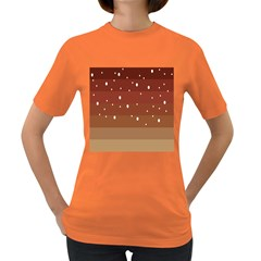 Fawn Gender Flags Polka Space Brown Women s Dark T Shirt