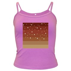 Fawn Gender Flags Polka Space Brown Dark Spaghetti Tank