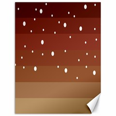 Fawn Gender Flags Polka Space Brown Canvas 18  X 24   by Mariart