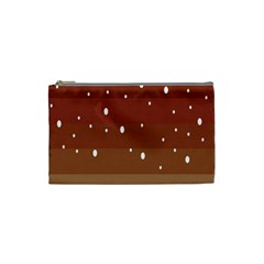 Fawn Gender Flags Polka Space Brown Cosmetic Bag (small)