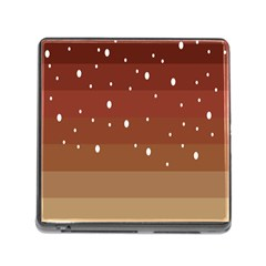 Fawn Gender Flags Polka Space Brown Memory Card Reader (square) by Mariart