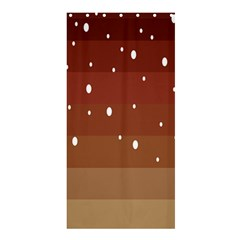 Fawn Gender Flags Polka Space Brown Shower Curtain 36  X 72  (stall)  by Mariart
