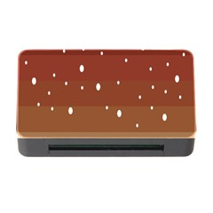 Fawn Gender Flags Polka Space Brown Memory Card Reader With Cf by Mariart