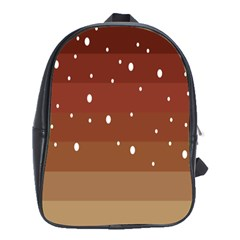 Fawn Gender Flags Polka Space Brown School Bags (xl)  by Mariart