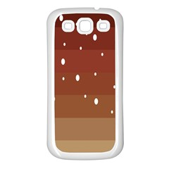 Fawn Gender Flags Polka Space Brown Samsung Galaxy S3 Back Case (white)