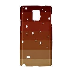 Fawn Gender Flags Polka Space Brown Samsung Galaxy Note 4 Hardshell Case by Mariart