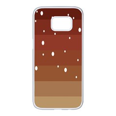 Fawn Gender Flags Polka Space Brown Samsung Galaxy S7 Edge White Seamless Case by Mariart