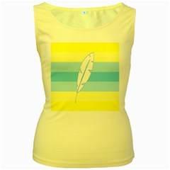 Feather Flags Women s Yellow Tank Top by Mariart