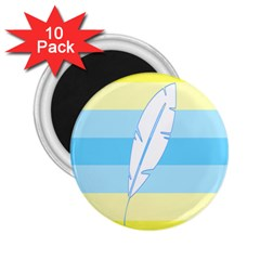 Feather Flags 2 25  Magnets (10 Pack)  by Mariart