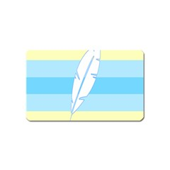 Feather Flags Magnet (name Card) by Mariart