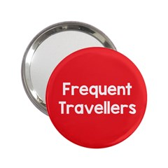 Frequent Travellers Red 2 25  Handbag Mirrors