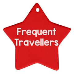 Frequent Travellers Red Star Ornament (two Sides) by Mariart