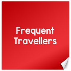 Frequent Travellers Red Canvas 16  X 16   by Mariart