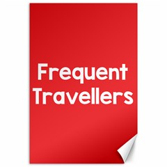 Frequent Travellers Red Canvas 24  X 36  by Mariart