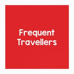 Frequent Travellers Red Medium Glasses Cloth (2 Side) by Mariart