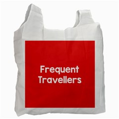 Frequent Travellers Red Recycle Bag (one Side) by Mariart