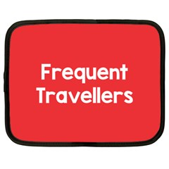 Frequent Travellers Red Netbook Case (xxl)