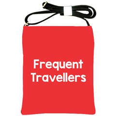 Frequent Travellers Red Shoulder Sling Bags by Mariart