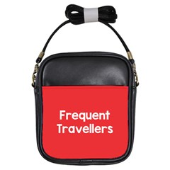 Frequent Travellers Red Girls Sling Bags by Mariart