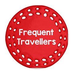Frequent Travellers Red Ornament (round Filigree) by Mariart
