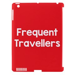 Frequent Travellers Red Apple Ipad 3/4 Hardshell Case (compatible With Smart Cover)
