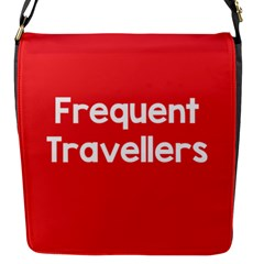 Frequent Travellers Red Flap Messenger Bag (s) by Mariart