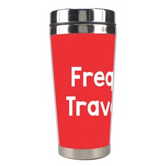 Frequent Travellers Red Stainless Steel Travel Tumblers by Mariart