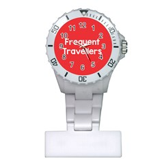 Frequent Travellers Red Plastic Nurses Watch by Mariart