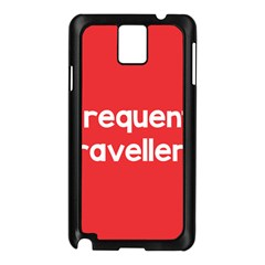 Frequent Travellers Red Samsung Galaxy Note 3 N9005 Case (black) by Mariart