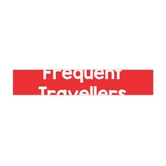 Frequent Travellers Red Flano Scarf (mini) by Mariart
