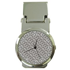 Capsul Another Grey Diamond Metal Texture Money Clip Watches by Mariart