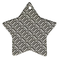 Capsul Another Grey Diamond Metal Texture Star Ornament (two Sides) by Mariart