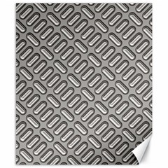 Capsul Another Grey Diamond Metal Texture Canvas 8  X 10  by Mariart