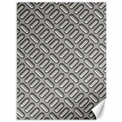 Capsul Another Grey Diamond Metal Texture Canvas 36  X 48   by Mariart