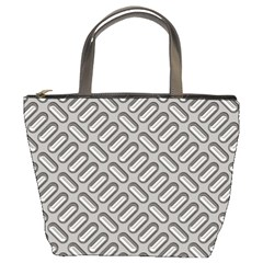 Capsul Another Grey Diamond Metal Texture Bucket Bags by Mariart