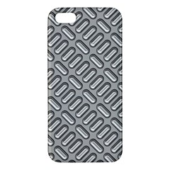 Capsul Another Grey Diamond Metal Texture Apple Iphone 5 Premium Hardshell Case by Mariart