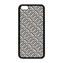 Capsul Another Grey Diamond Metal Texture Apple Iphone 5c Seamless Case (black) by Mariart