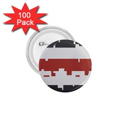 Girl Flags Plaid Red Black 1 75  Buttons (100 Pack)