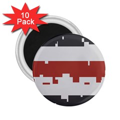 Girl Flags Plaid Red Black 2 25  Magnets (10 Pack)  by Mariart