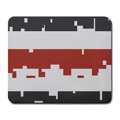 Girl Flags Plaid Red Black Large Mousepads