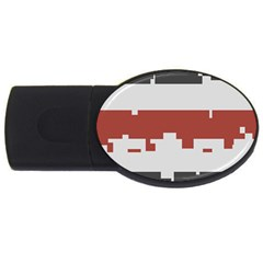 Girl Flags Plaid Red Black Usb Flash Drive Oval (4 Gb) by Mariart