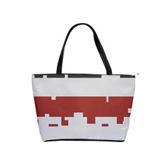 Girl Flags Plaid Red Black Shoulder Handbags by Mariart
