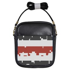 Girl Flags Plaid Red Black Girls Sling Bags by Mariart